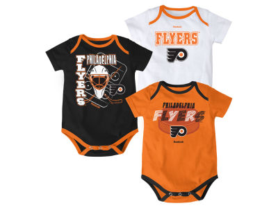 Philadelphia Flyers NHL Newborn 3 Part Spread Creeper Set