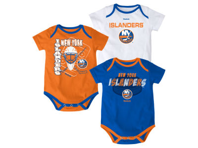 New York Islanders NHL Newborn 3 Part Spread Creeper Set