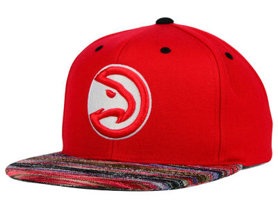 Atlanta Hawks Mitchell and Ness NBA Space Knit Team Color Snapback Cap