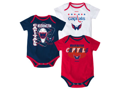 Washington Capitals adidas NHL Infant 3 Pt Spread Creeper Set