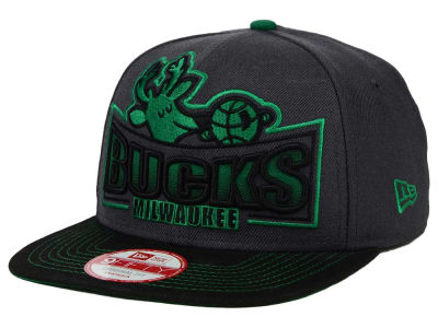 Milwaukee Bucks New Era NBA HWC Grader 9FIFTY Snapback Cap