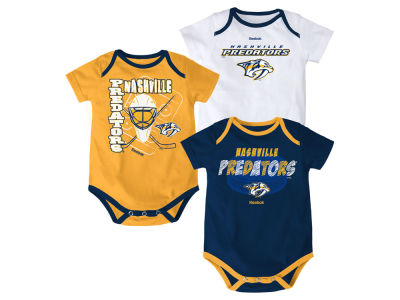 Nashville Predators NHL Infant 3 Pt Spread Creeper Set
