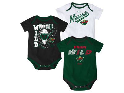 Minnesota Wild NHL Infant 3 Pt Spread Creeper Set