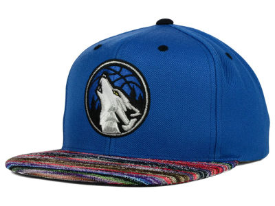 Minnesota Timberwolves Mitchell and Ness NBA Space Knit Team Color Snapback Cap