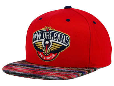 New Orleans Pelicans Mitchell and Ness NBA Space Knit Team Color Snapback Cap