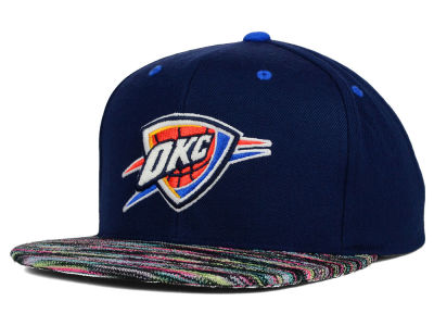 Oklahoma City Thunder Mitchell and Ness NBA Space Knit Team Color Snapback Cap