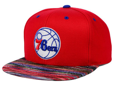 Philadelphia 76ers Mitchell and Ness NBA Space Knit Team Color Snapback Cap