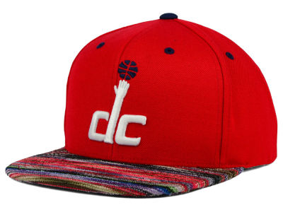 Washington Wizards Mitchell and Ness NBA Space Knit Team Color Snapback Cap