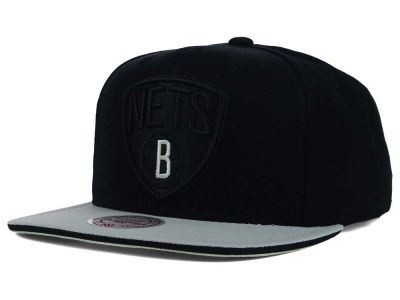 Brooklyn Nets Mitchell and Ness NBA XL Blackout Snapback Cap