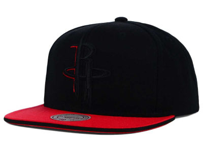 Houston Rockets Mitchell and Ness NBA XL Blackout Snapback Cap