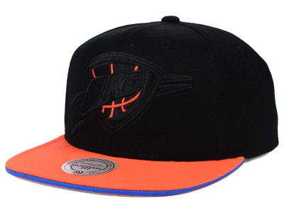 Oklahoma City Thunder Mitchell and Ness NBA XL Blackout Snapback Cap