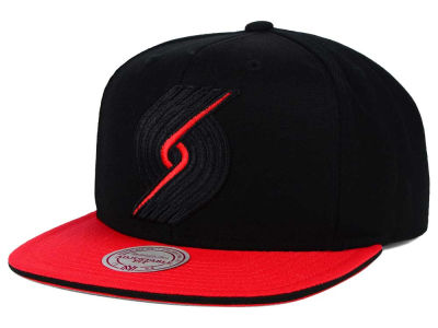Portland Trail Blazers Mitchell and Ness NBA XL Blackout Snapback Cap