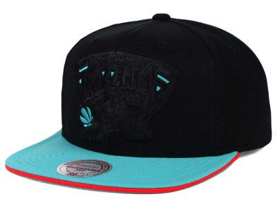 Vancouver Grizzlies Mitchell and Ness NBA XL Blackout Snapback Cap
