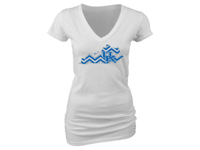 Kentucky Wildcats Blue 84 NCAA Women's Chevron State V-Neck T-Shirt