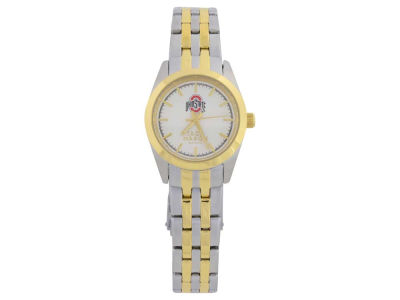 Ohio State Buckeyes Two Tone Ladies Watch
