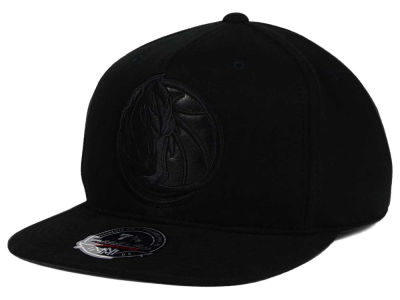 Dallas Mavericks Mitchell and Ness NBA Leather Logo Fitted Cap