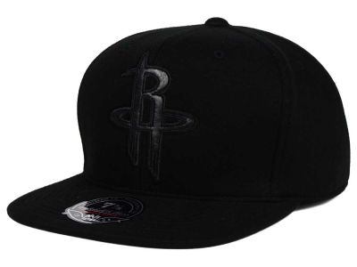 Houston Rockets Mitchell and Ness NBA Leather Logo Fitted Cap