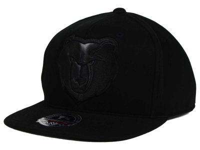 Memphis Grizzlies Mitchell and Ness NBA Leather Logo Fitted Cap