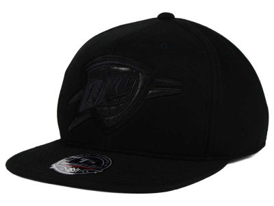 Oklahoma City Thunder Mitchell and Ness NBA Leather Logo Fitted Cap