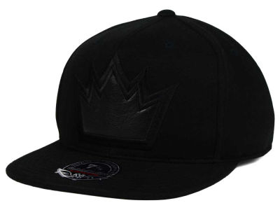 Sacramento Kings Mitchell and Ness NBA Leather Logo Fitted Cap