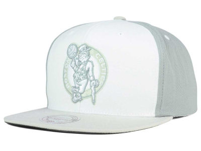 Boston Celtics Mitchell and Ness NBA White Wall Snapback Cap