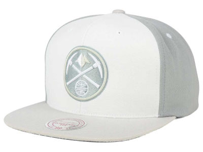 Denver Nuggets Mitchell and Ness NBA White Wall Snapback Cap
