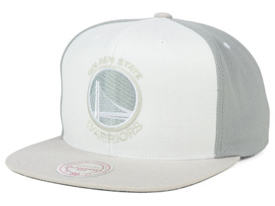 Golden State Warriors Mitchell and Ness NBA White Wall Snapback Cap