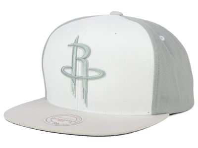 Houston Rockets Mitchell and Ness NBA White Wall Snapback Cap