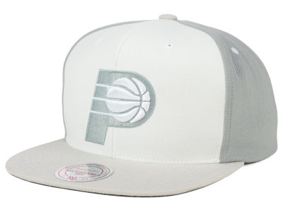 Indiana Pacers Mitchell and Ness NBA White Wall Snapback Cap