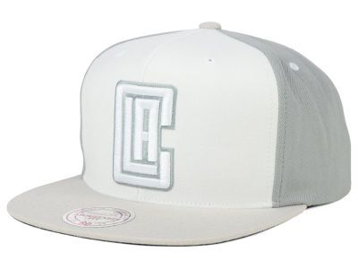Los Angeles Clippers Mitchell and Ness NBA White Wall Snapback Cap
