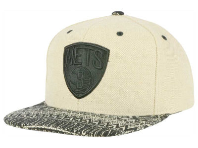 Brooklyn Nets Mitchell and Ness NBA Hemp Crown Strapback Cap