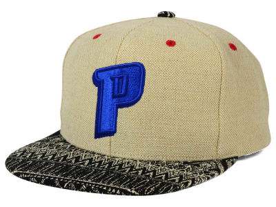 Detroit Pistons Mitchell and Ness NBA Hemp Crown Strapback Cap