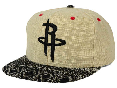 Houston Rockets Mitchell and Ness NBA Hemp Crown Strapback Cap