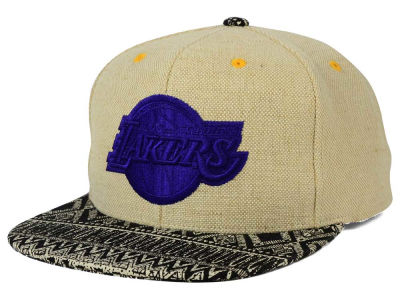 Los Angeles Lakers Mitchell and Ness NBA Hemp Crown Strapback Cap