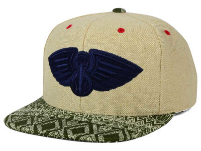 New Orleans Pelicans Mitchell and Ness NBA Hemp Crown Strapback Cap