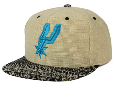San Antonio Spurs Mitchell and Ness NBA Hemp Crown Strapback Cap