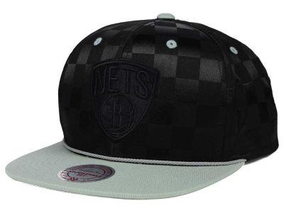 Brooklyn Nets Mitchell and Ness NBA Upfield Snapback Cap