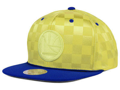 Golden State Warriors Mitchell and Ness NBA Upfield Snapback Cap