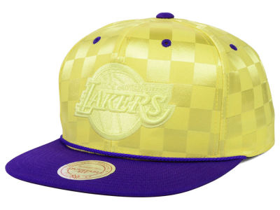 Los Angeles Lakers Mitchell and Ness NBA Upfield Snapback Cap