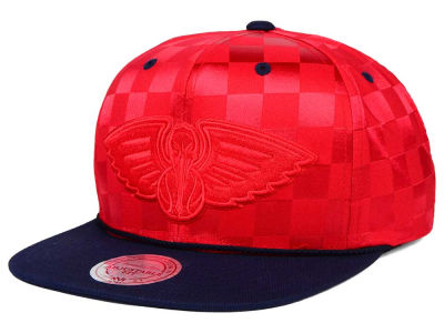 New Orleans Pelicans Mitchell and Ness NBA Upfield Snapback Cap