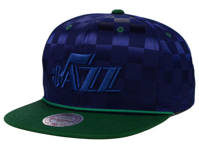 Utah Jazz Mitchell and Ness NBA Upfield Snapback Cap