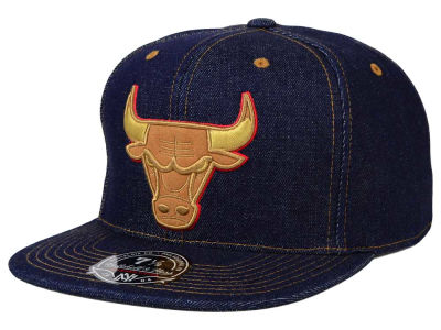 Chicago Bulls Mitchell and Ness NBA The Denim Fitted Cap