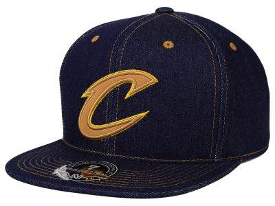 Cleveland Cavaliers Mitchell and Ness NBA The Denim Fitted Cap