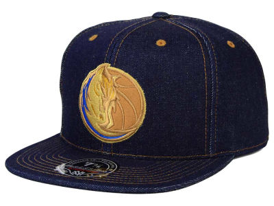 Dallas Mavericks Mitchell and Ness NBA The Denim Fitted Cap