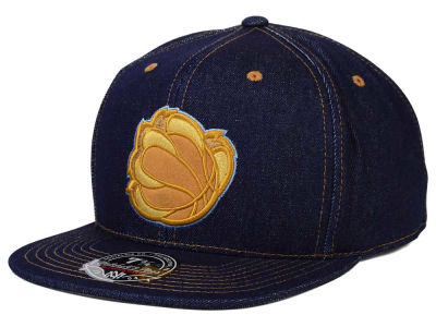 Memphis Grizzlies Mitchell and Ness NBA The Denim Fitted Cap