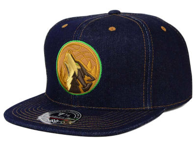 Minnesota Timberwolves Mitchell and Ness NBA The Denim Fitted Cap
