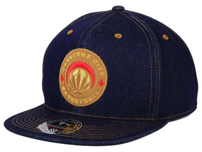 New Orleans Pelicans Mitchell and Ness NBA The Denim Fitted Cap