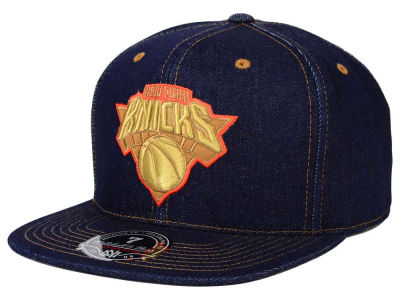 New York Knicks Mitchell and Ness NBA The Denim Fitted Cap