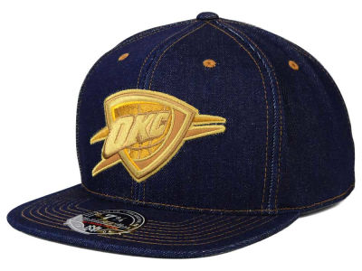 Oklahoma City Thunder Mitchell and Ness NBA The Denim Fitted Cap