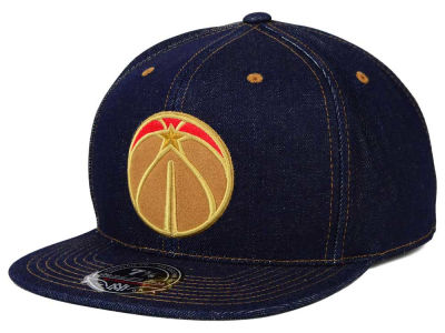 Washington Wizards Mitchell and Ness NBA The Denim Fitted Cap